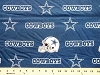 Dallas Cowboys on Blue NFL Pro Football Cotton Fabric Print
