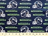 Cotton Seattle Seahawks Neon Green NFL Pro Football Cotton Fabric Print