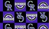 Colorado Rockies MLB Boxes Baseball Fleece Fabric Print