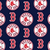 Cotton Boston Red Sox on Navy MLB Baseball Sports Team Cotton Fabric Print by the Yard