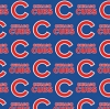 Cotton Chicago Cubs on Blue MLB Baseball Sports Team Cotton Fabric Print by the Yard