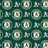Cotton Oakland Athletics on Green MLB Baseball Sports Team Cotton Fabric Print by the Yard