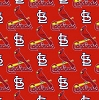 Cotton St Louis Cardinals on Red MLB Baseball Sports Team Cotton Fabric Print by the Yard