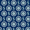 Cotton Seattle Mariners on Blue MLB Baseball Sports Team Cotton Fabric Print by the Yard