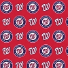 Cotton Washington Nationals on Red MLB Baseball Sports Team Cotton Fabric Print by the Yard