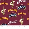 Cleveland Cavaliers NBA Basketball Fleece Fabric Print by the Yard