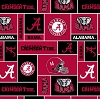 University of Alabama™ Crimson Tide™ College Fleece Fabric Print