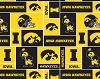 The University of Iowa™ Hawkeyes™ College Fleece Fabric Print