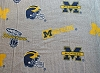 University of Michigan Wolverines College Authentic Sweatshirt Fleece Fabric Print