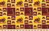 Sold Out - Cotton University™ of Minnesota Golden Gophers College Cotton Fabric Print - sminn006s