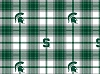 Michigan State University™ Spartans™ Plaid College Fleece Fabric Print
