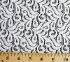 Small Floral White Lace Polyester / Cotton Fabric 57