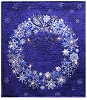 Starry Night Wreath Panel Fabric Kit - Blue - Sold by the Kit