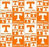 Cotton University of Tennessee Vols Volunteers College Team Cotton Fabric Print (tenn-020)
