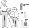 Suitability 2250 Womens and Girls Western Showmanship Pants Pattern