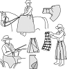 Suitability 6500 Sidesaddle apron, Driving apron, and Riding Skirt Pattern