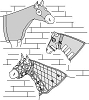 Suitability 7570 Horse Hood Collection Pattern (includes stretch hood)