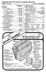 Padded Briefcase & Laptop Shuttle #525 Sewing Pattern (Pattern Only)