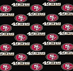 San Francisco 49ers NFL Pro Football Cotton Fabric Print