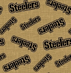 Pittsburgh Steelers NFL Football Sports Team Burlap Fabric Print by the Yard (6477-D)