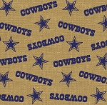 Dallas Cowboys NFL Football Sports Team Burlap Fabric Print by the Yard (6494-D)