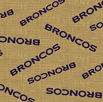 Denver Broncos NFL Football Sports Team Burlap Fabric Print by the Yard (6495-D)