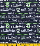 Cotton Seattle Seahawks NFL Pro Football Glitter Cotton Fabric Print