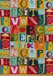 Fleece Alpha Blocks Alphabet Blocks ABCs Squares Octopus Apple Flowers Cat Umbrella Stocking School Kids Fleece Fabric Print by the Yard (42308-xb)
