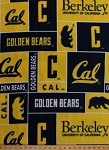 University at California™ Berkeley™ Golden Bears™ College Fleece Fabric Print