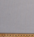 Oxford Stripe Shirting 1/16 inch Stripe Blue White Cotton Fabric By the Yard (3600R-1A)