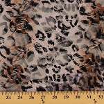 Leopard Skin Print Stretch Lace Nylon Lycra Fabric by the Yard (8646P-5M)