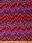 Cotton Home Decor Weight Kaffe Fasset Zigzag Stripes Stripe Geometric Bright Blue Pink Orange Red Purple Upholstery Fabric By the Yard (SAGP006.REDXX)