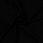 Polyester Pongee Lining Black Fabric by the Yard - Black (2560-black)