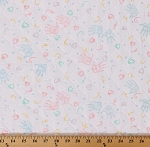Single-face Pre-quilted Baby Pastel with Polyester Nylon Tricot Backing Cotton Fabric By the Yard (8336F-3M)