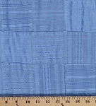 Blue Patchwork Cotton Fabric By the Yard (9630T-11M)