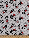 Mickey Mouse Toss Knit Disney Cotton Spandex Stretch Fabric By the Yard (60006-G550710)