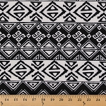 Techno Scuba Knit Black White Design Polyester Spandex Blend Fabric by the Yard (8927F-6M)