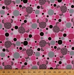 Cotton Minnie Mouse Polka Dots Circles Bows Minnie Dots Disney Cartoons Kids Children's Girls Pink Cotton Fabric Print by the Yard (52086-C470715)