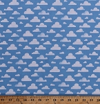 Cotton Clouds Cloudy Blue Sky Nature Weather Spring Summer Landscape Kids Cotton Fabric Print by the Yard (CX7038-SKYX-D)