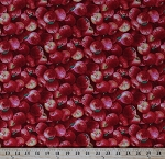 Cotton Red Apples Fresh Fruits Produce Food Kitchen Cooking Baking Culinary Fall Autumn Orchards Harvest Quilts Cotton Fabric Print by the Yard (260RED)