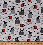 Cotton Alley Cats Kittens Trash Cans Fence Animals Oona Clementine Cotton Fabric Print by the Yard (CX7246-CLEM-D)