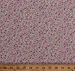 Cotton Small Flowers Pink Red Purple Floral Toss Meadow Garden Daisies Sevenberry Bouquet Nature Spring Lilac Cotton Fabric Print by the Yard (SB-6121D6-1lilac)