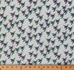 Cotton Cottage Garden Hummingbirds Birds Fabric Print by the Yard PWAY004-Periw