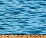 Landscape Medley Waves Water Blue Ocean Sea Lake Nautical Naval Seafaring Cotton Fabric Print by the Yard (365-Blue)