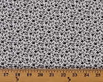 Cotton Grey Black Soft 100% Cotton Calico on White Background Flowers Cotton Fabric Print by the Yard (9164G-8M)