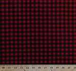 Cotton Buffalo Plaid Red and Black Checks Checkers Checkered Cotton Fabric Print by the Yard (12413-RED-DR)