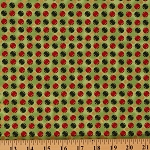 Cotton All Wrapped Up Christmas Metallic Winter Holiday Dots Green Cotton Fabric Print by Yard (Y1486-19M)