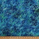 Cotton Dragonflies Dragonfly Flying Insects Bugs Wings Blue Green Cotton Batik Fabric Print by the Yard (16204)