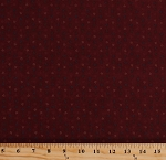 Cotton Floral Flowers Leaves Botanical Maroon Red Kansas Troubles Bees N Blooms Cotton Fabric Print by the Yard (9493-13)