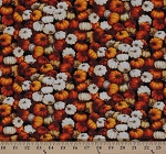 Cotton Autumn Romance Packed Fall Pumpkins Cotton Fabric Print by the Yard ZD-56804-001